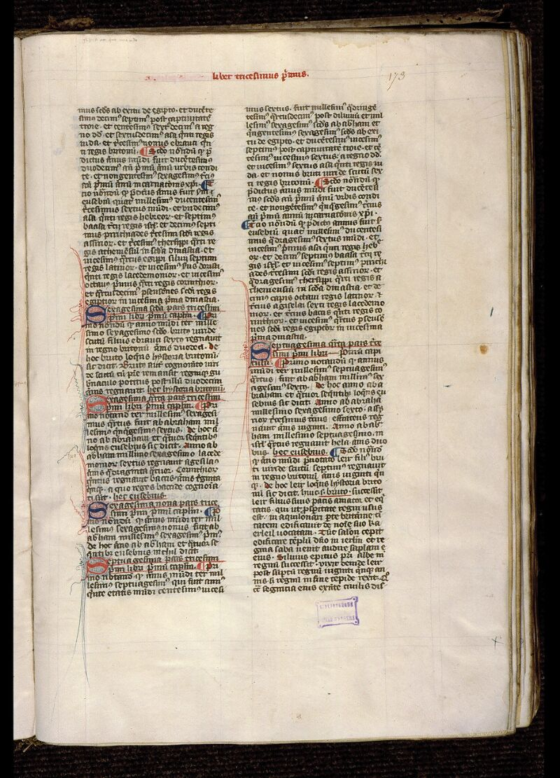 Angers, Bibl. mun., ms. 1372, f. 173