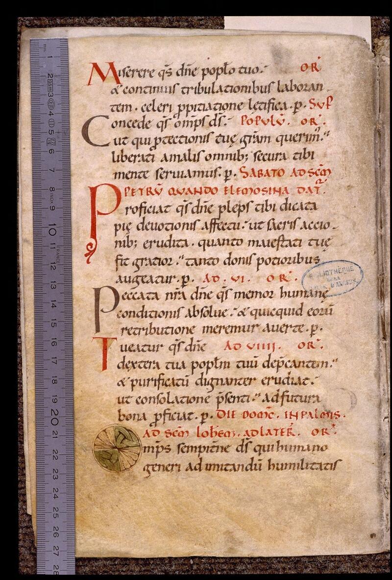 Angers, Bibl. mun., ms. 1901, n° 02, f. 002v - vue 1