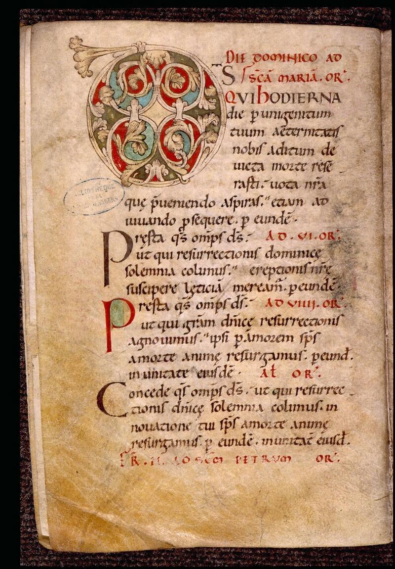 Angers, Bibl. mun., ms. 1901, n° 02, f. 004v - vue 1