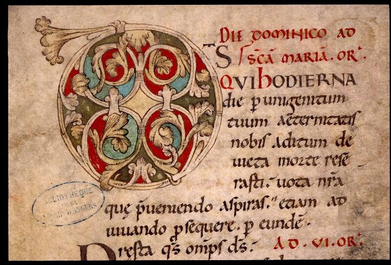 Angers, Bibl. mun., ms. 1901, n° 02, f. 004v - vue 2