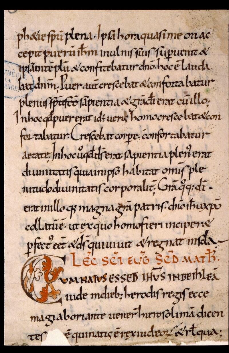 Angers, Bibl. mun., ms. 1901, n° 03, f. 001
