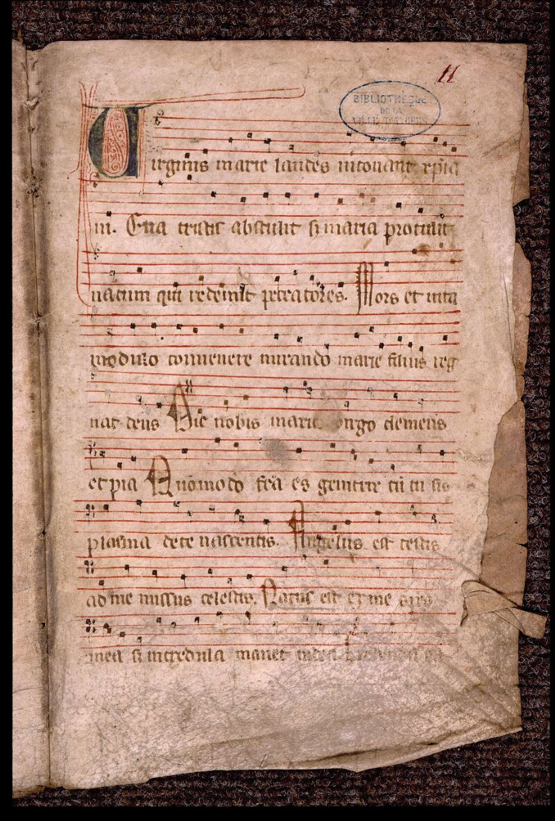 Angers, Bibl. mun., ms. 1901, n° 06, f. 011