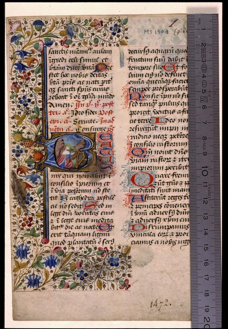 Angers, Bibl. mun., ms. 1901, n° 14, f. 001 - vue 1