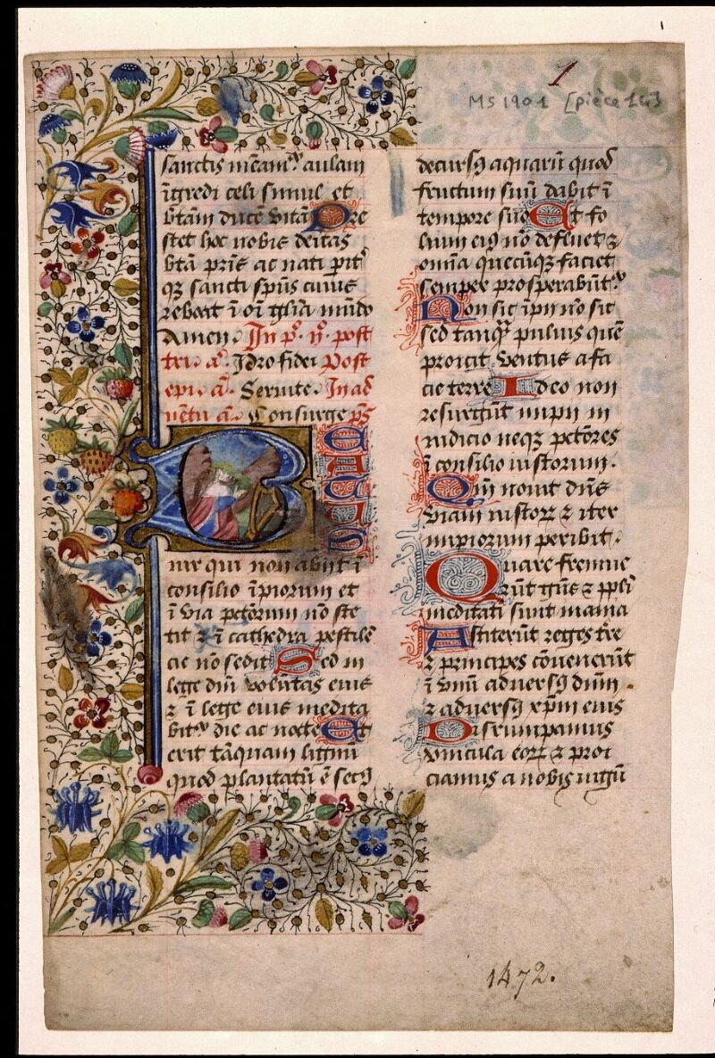 Angers, Bibl. mun., ms. 1901, n° 14, f. 001 - vue 2