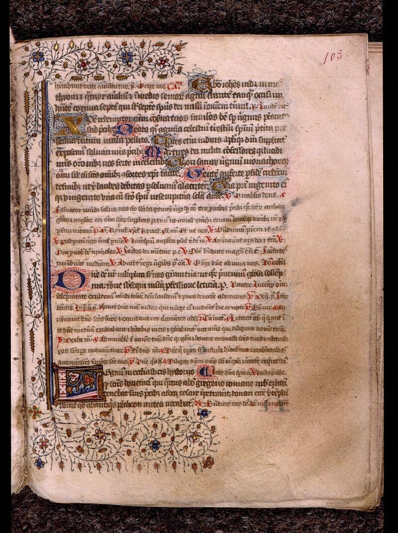 Angers, Bibl. mun., ms. 1901, n° 15, f. 105