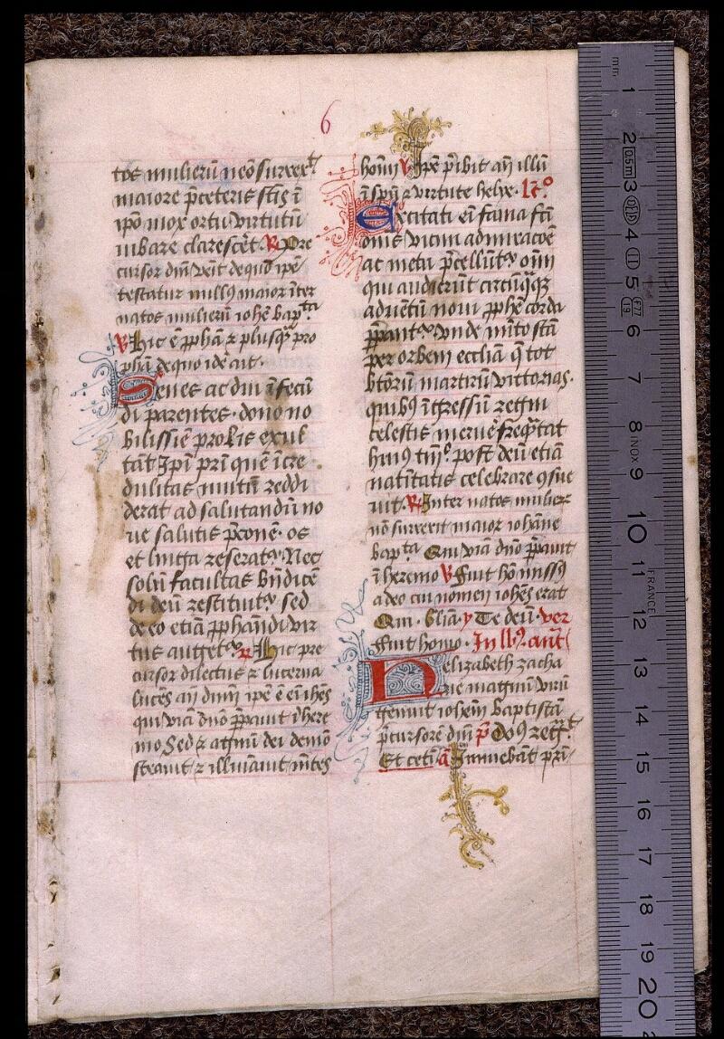 Angers, Bibl. mun., ms. 1901, n° 16, f. 006 - vue 1