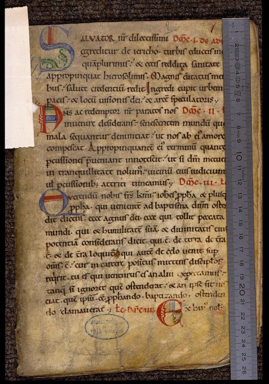 Angers, Bibl. mun., ms. 1902, n° 2, f. 001 - vue 1