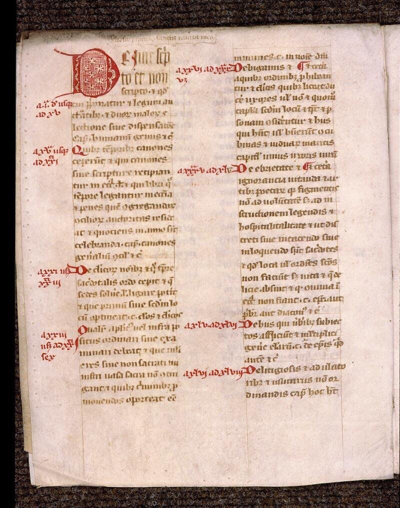 Angers, Bibl. mun., ms. 1902, n° 3, f. 033v - vue 1