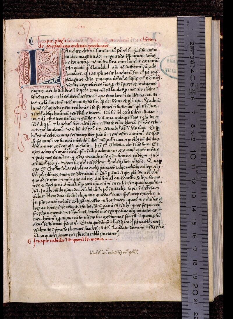 Angers, Bibl. mun., ms. 1932, f. 001 - vue 1