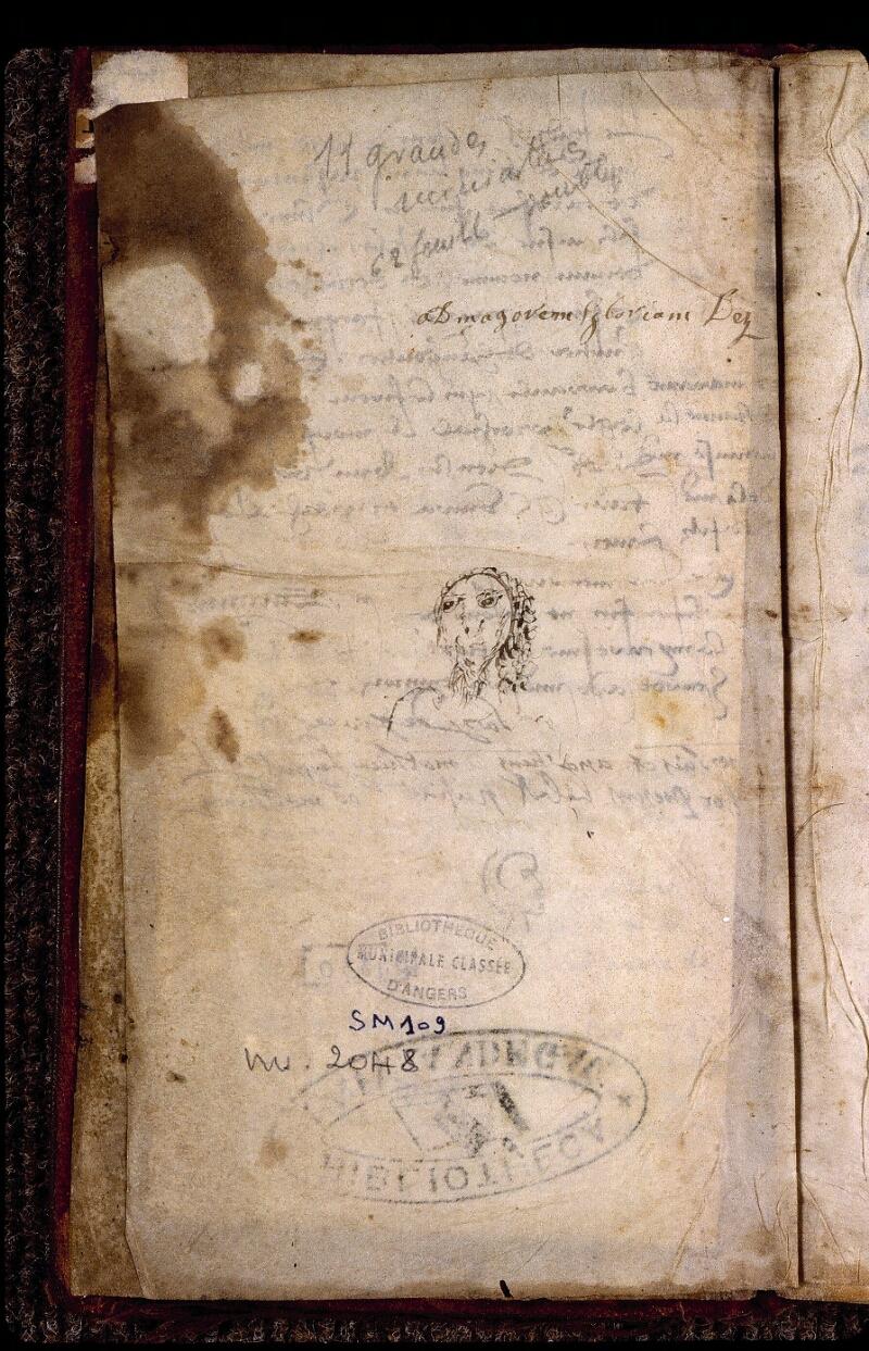 Angers, Bibl. mun., ms. 2048, f. 001v