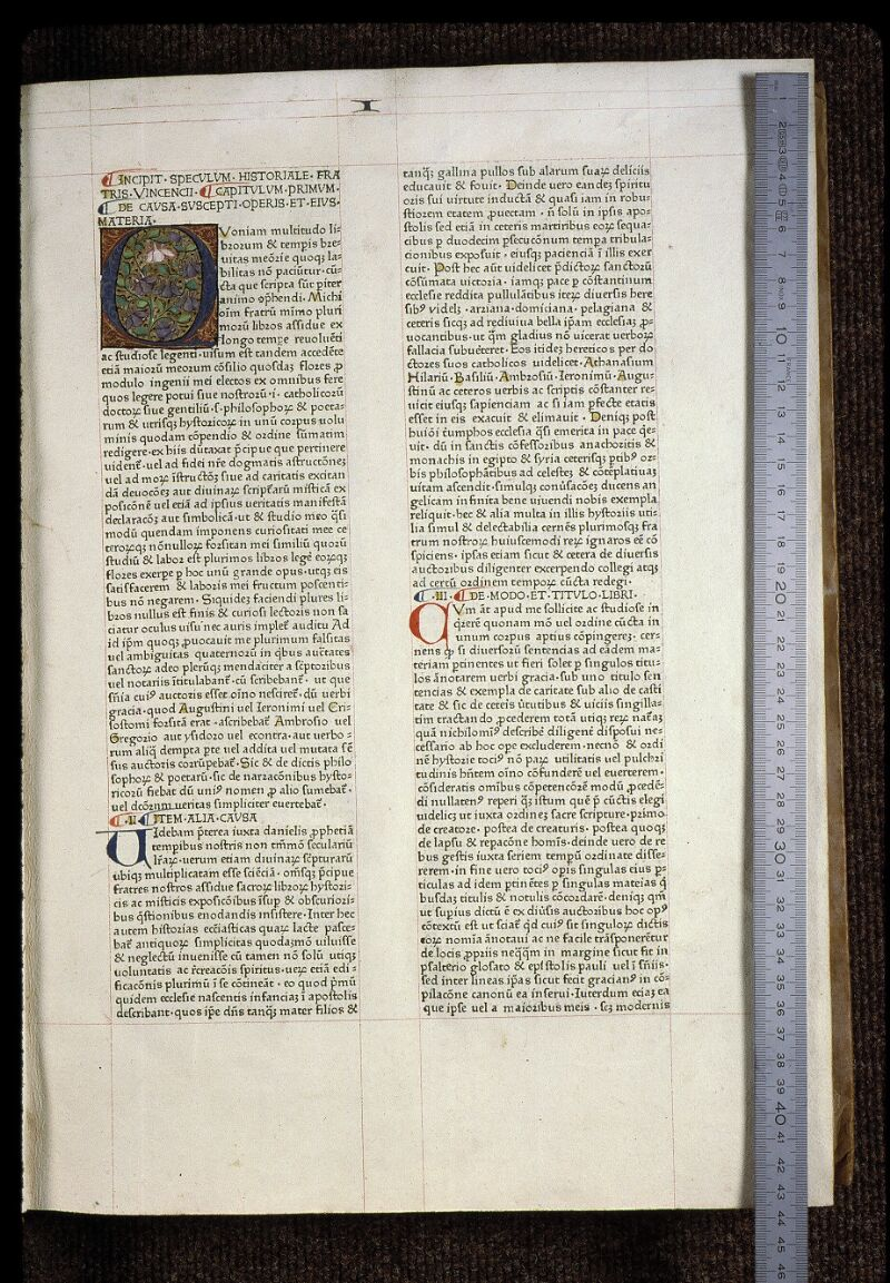 Angers, Bibl. mun., B 3258, t. I, f. 003 - vue 1