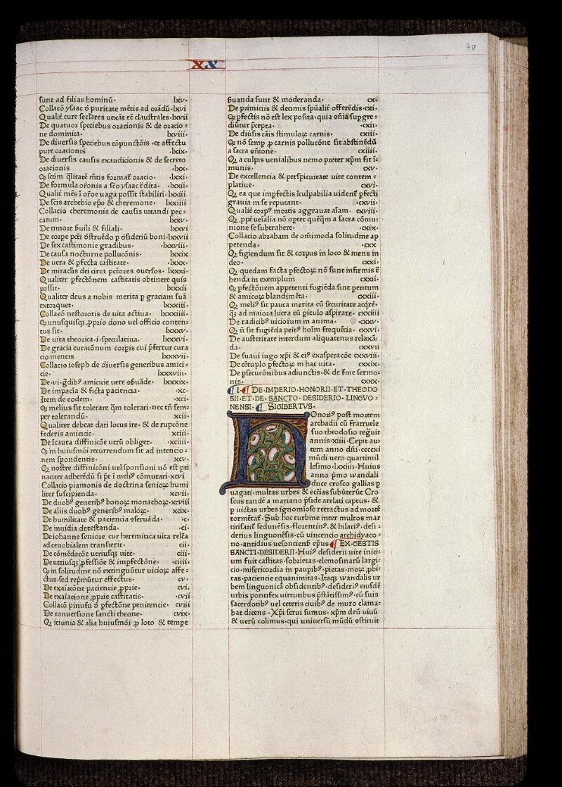 Angers, Bibl. mun., B 3258, t. III, f. 070 - vue 1