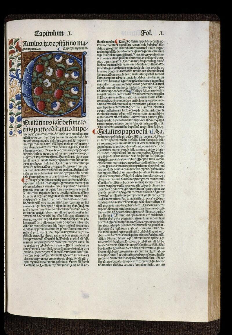 Angers, Bibl. mun., H 0724, t. I, B f. 001 - vue 1