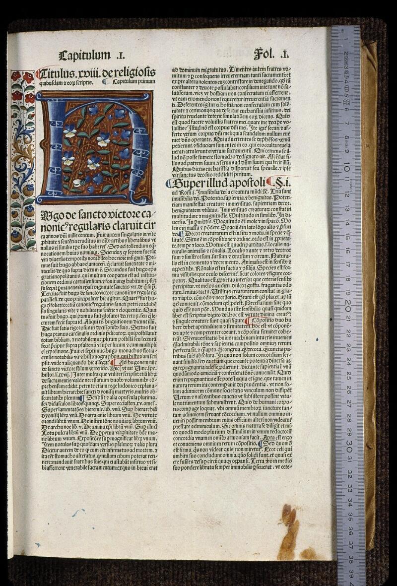 Angers, Bibl. mun., H 0724, t. II, f. 001 - vue 1
