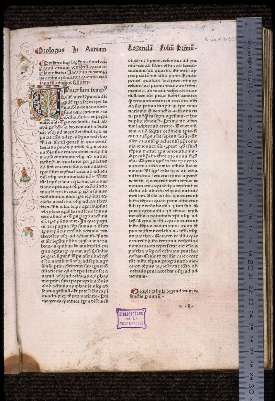 Angers, Bibl. mun., H 2959, f. 001 - vue 1