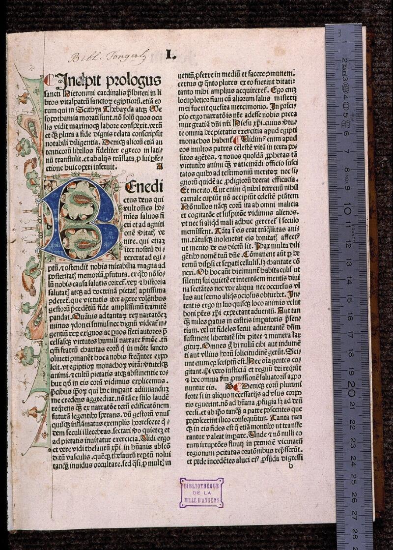 Angers, Bibl. mun., H 3024, f. 001 - vue 1