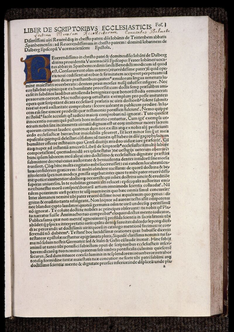 Angers, Bibl. mun., H 5147, f. 001 - vue 2