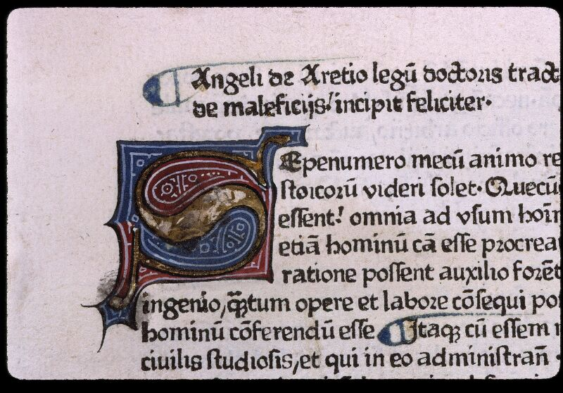 Angers, Bibl. mun., J 1161, f. 001 - vue 3