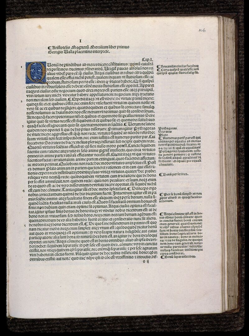 Angers, Bibl. mun., SA 0422, f. 106 - vue 1
