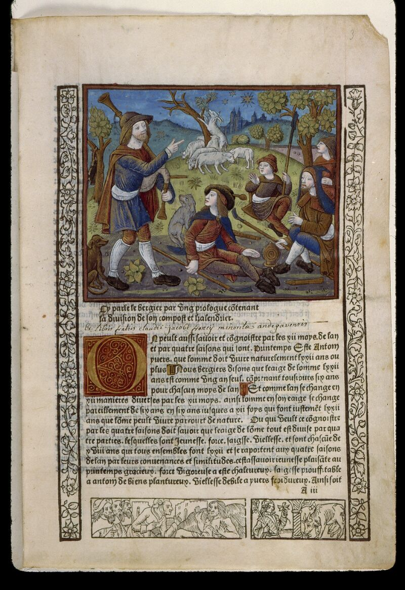 Angers, Bibl. mun., SA 3390, f. 003 - vue 1