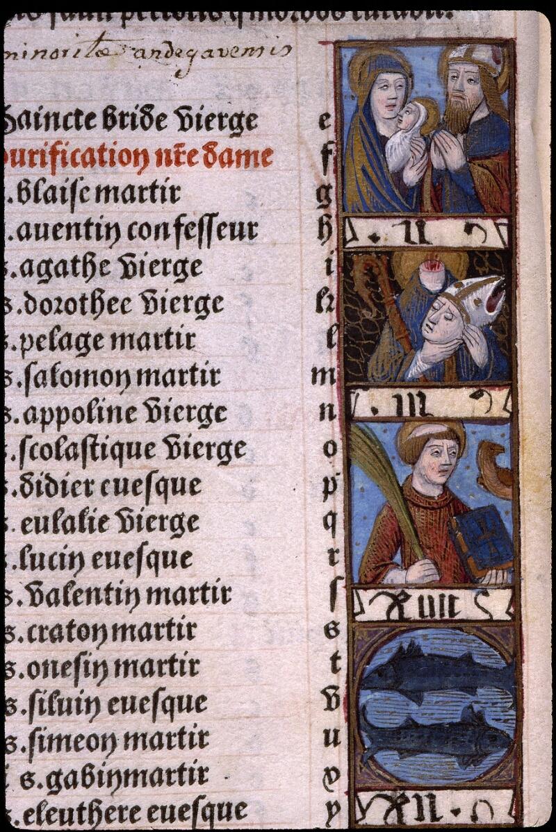 Angers, Bibl. mun., SA 3390, f. 009v - vue 2