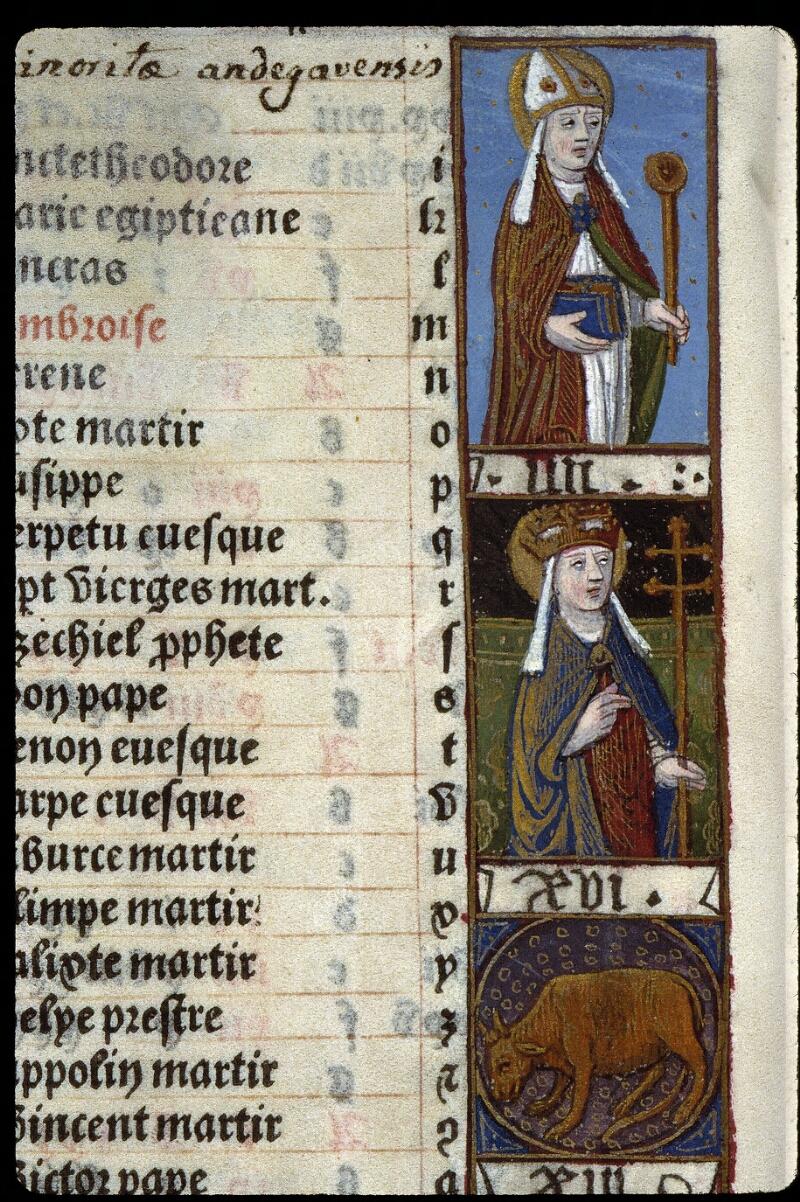 Angers, Bibl. mun., SA 3390, f. 010v - vue 2