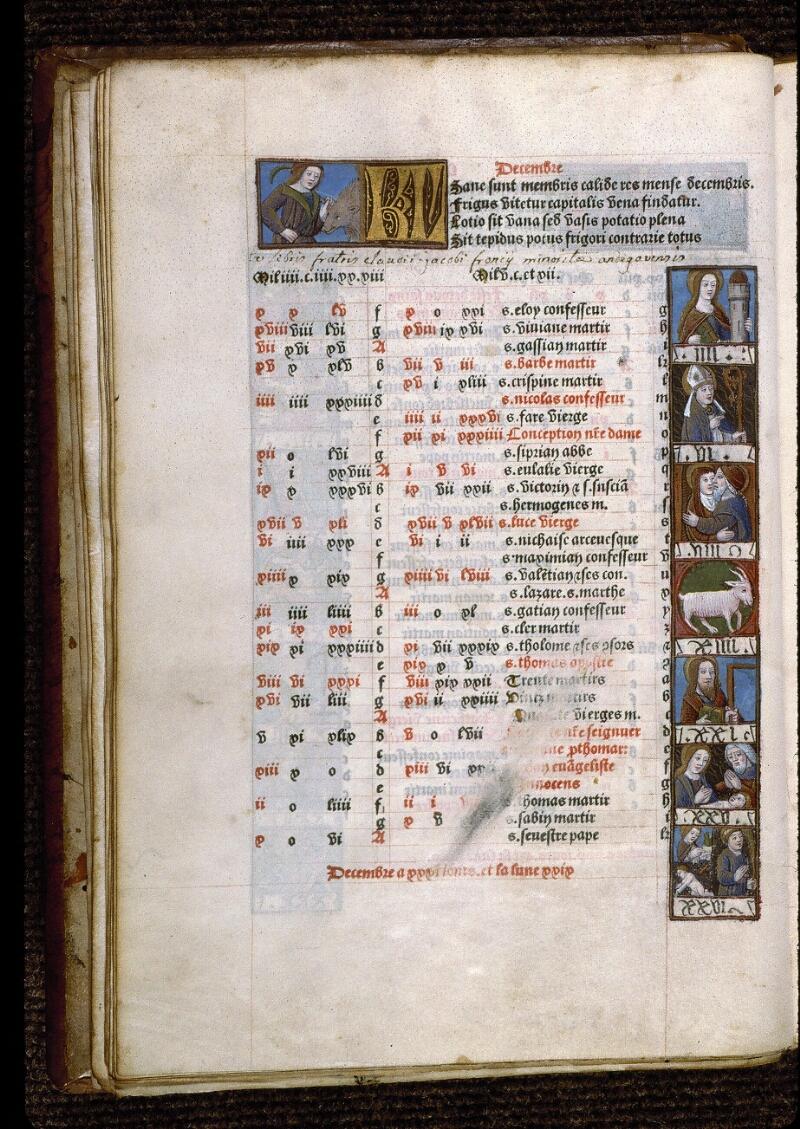Angers, Bibl. mun., SA 3390, f. 014v - vue 1