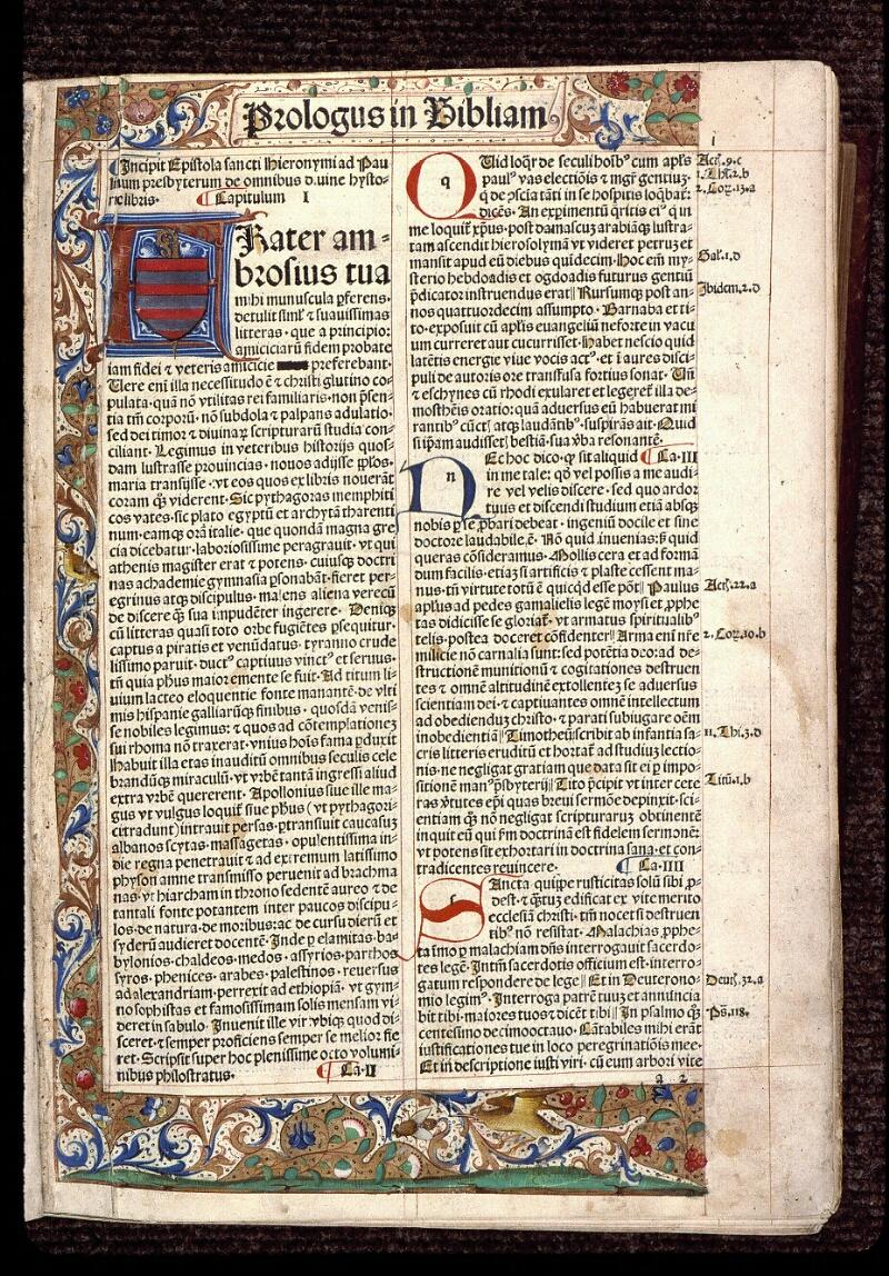 Angers, Bibl. mun., T 0099, p. 001 - vue 2