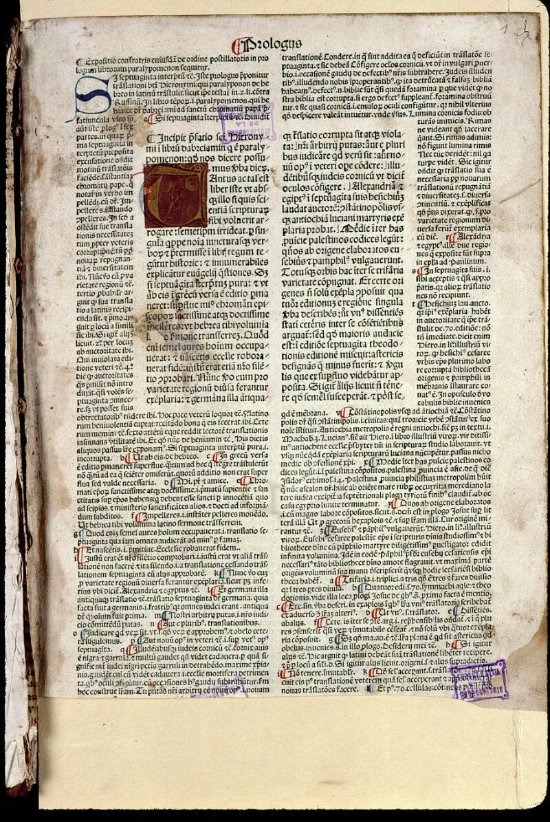 Angers, Bibl. mun., T 0350, t. II, f. 001 - vue 2