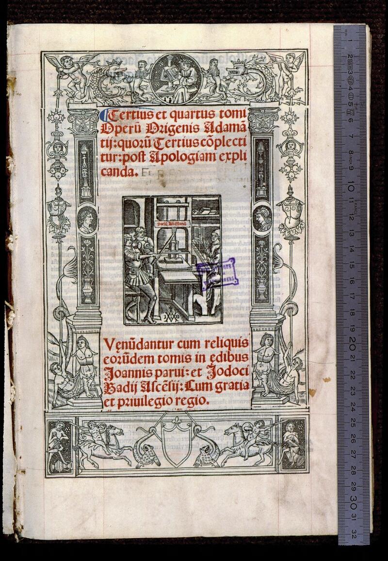Angers, Bibl. mun., T 0644, t. II, f. 000I - vue 1