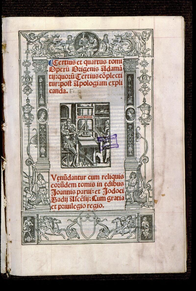 Angers, Bibl. mun., T 0644, t. II, f. 000I - vue 2