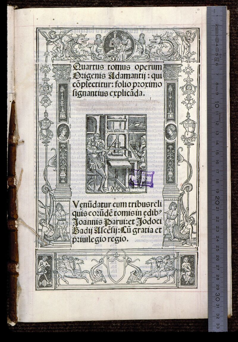 Angers, Bibl. mun., T 0644, t. III, f. 000I - vue 1