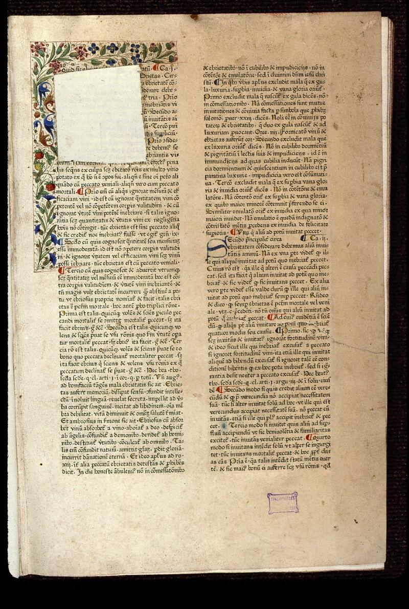 Angers, Bibl. mun., T 0718, t. I, f. 001 - vue 2