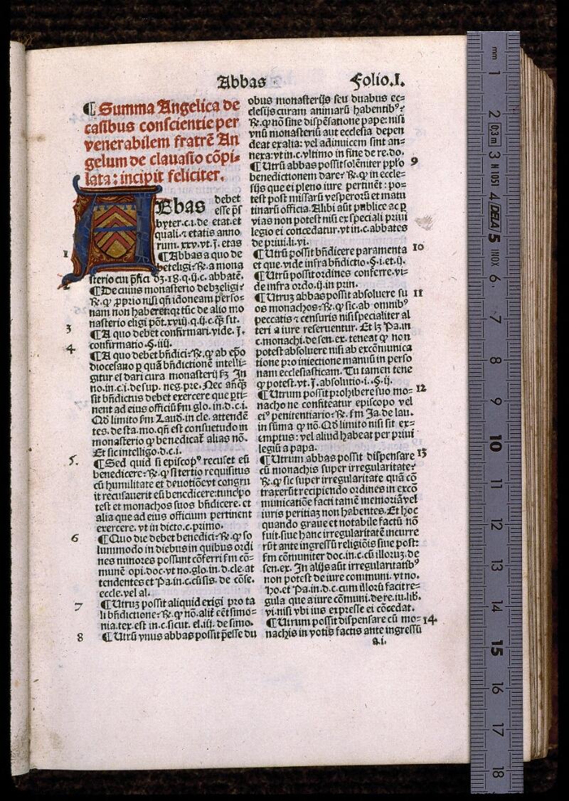 Angers, Bibl. mun., T 1081 bis, f. 001 - vue 1