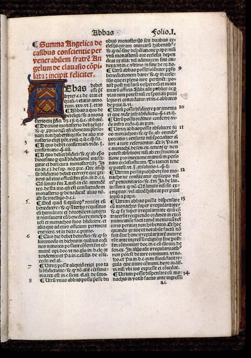 Angers, Bibl. mun., T 1081 bis, f. 001 - vue 2