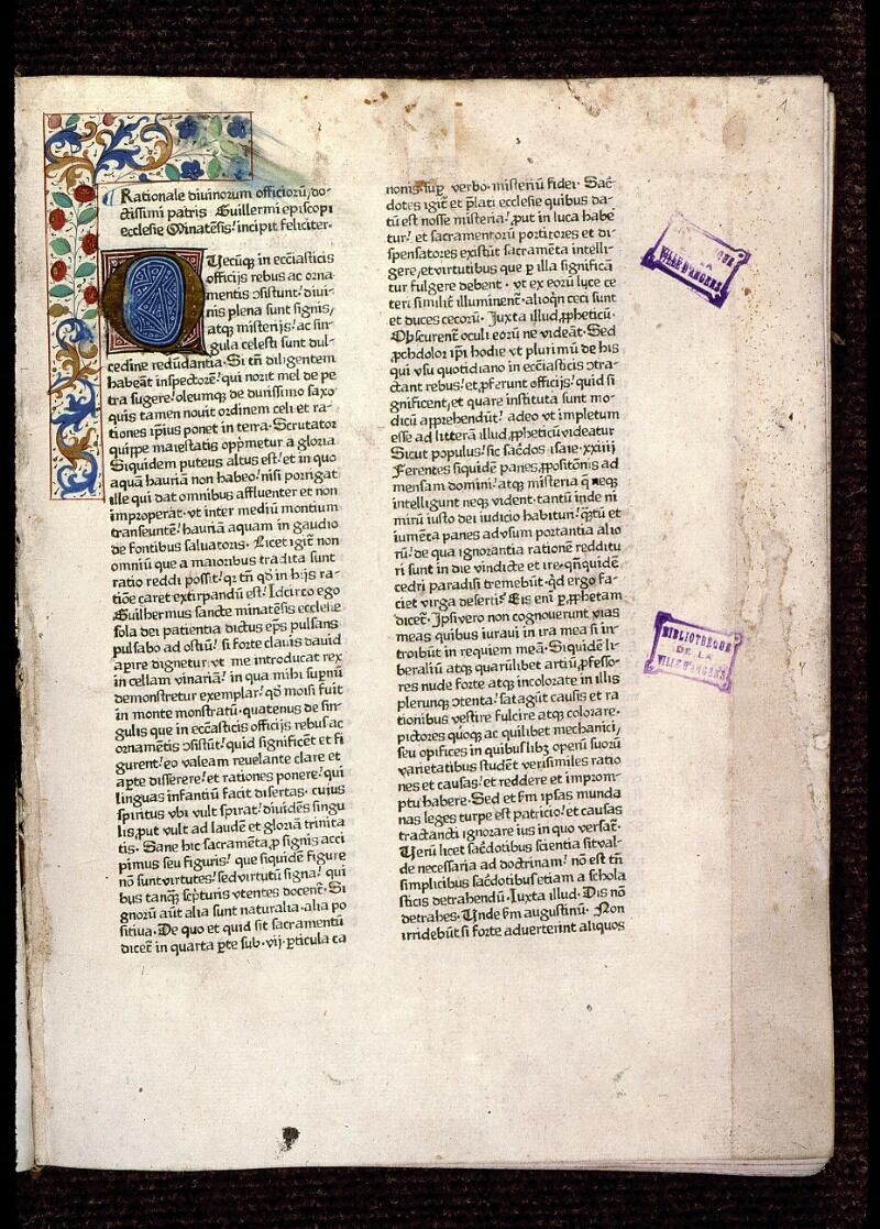 Angers, Bibl. mun., T 1290, f. 001 - vue 2