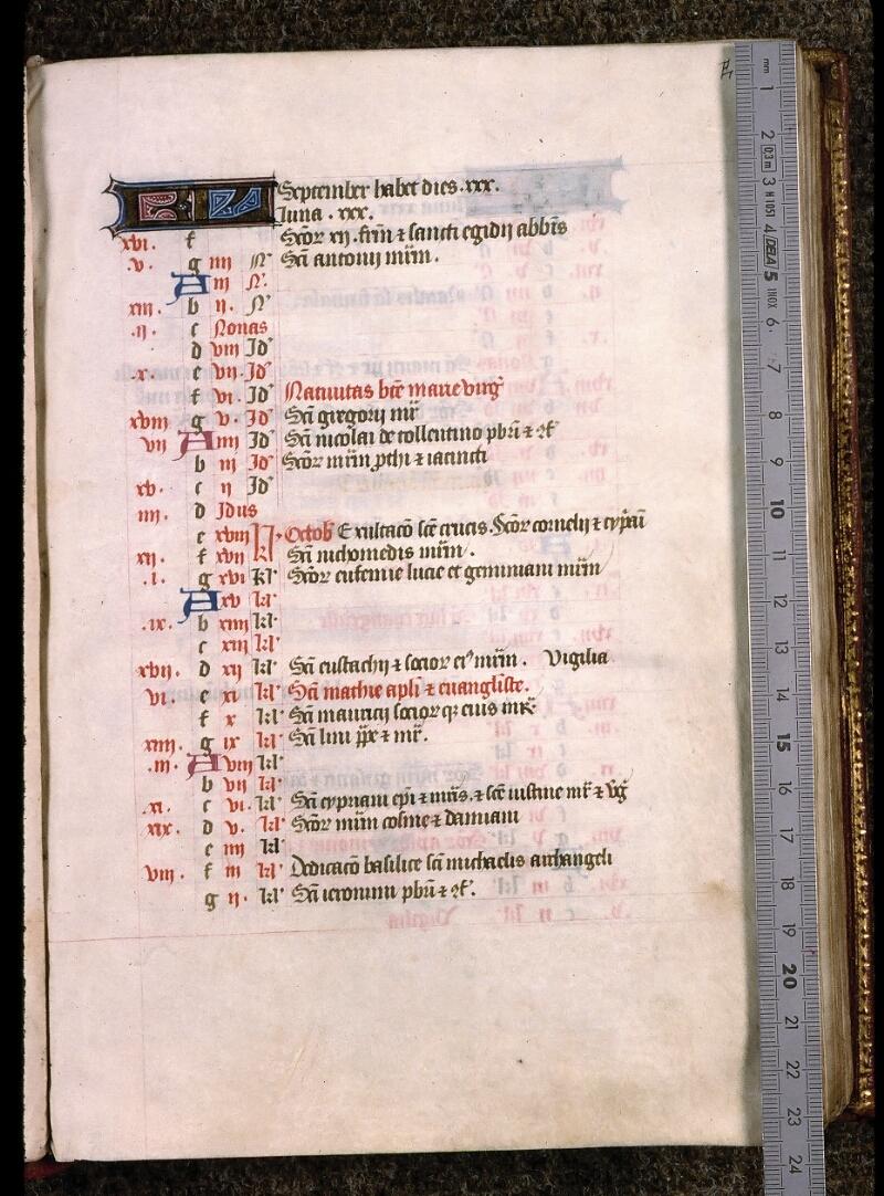 Angers, Bibl. univ. cath., ms. non coté [1], f. 000E - vue 1