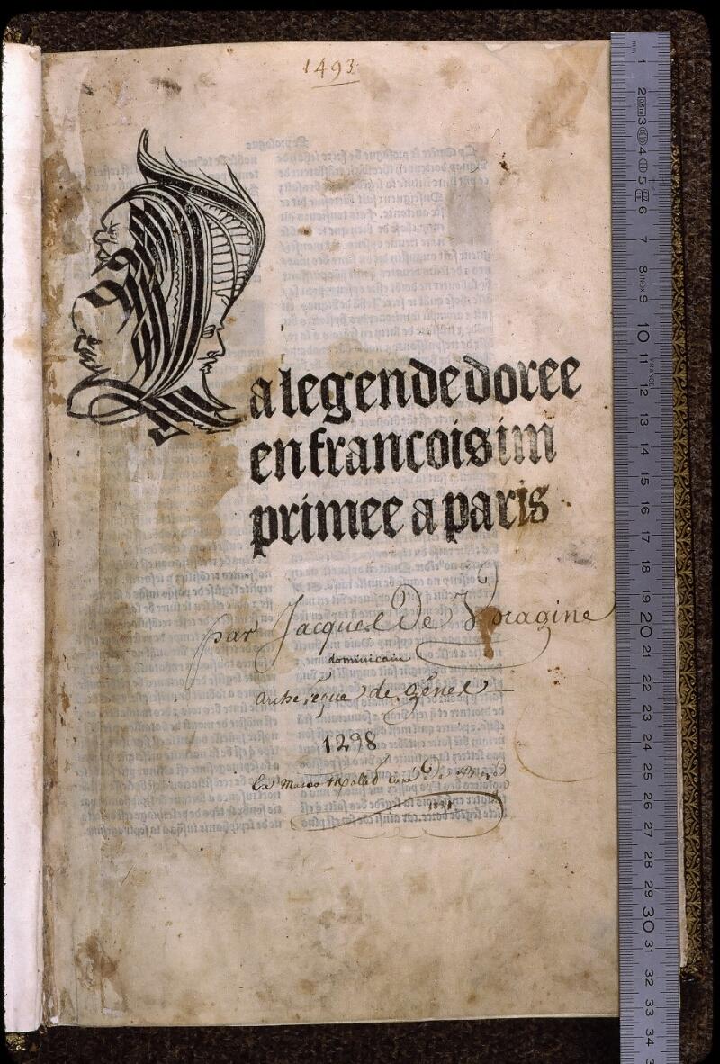 Angers, Bibl. univ. cath., inc. non coté [1], f. 001 - vue 1