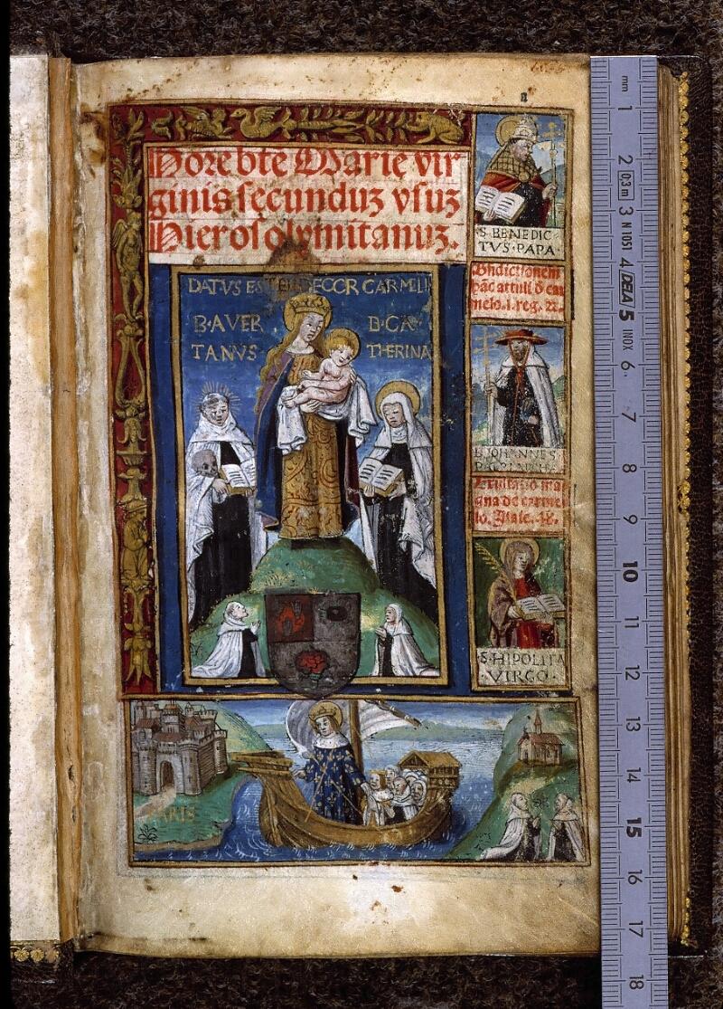 Angers, Bibl. univ. cath., impr. non coté [1], f. 001 - vue 1