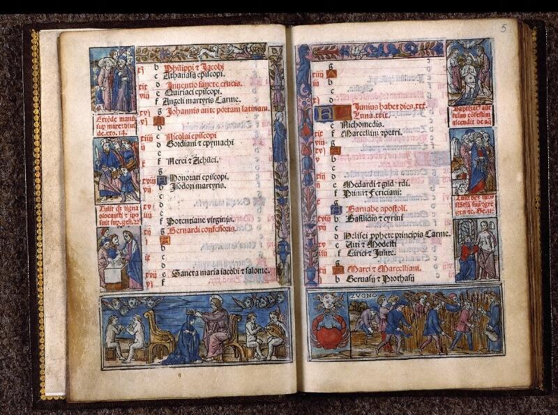 Angers, Bibl. univ. cath., impr. non coté [1], f. 004v-005