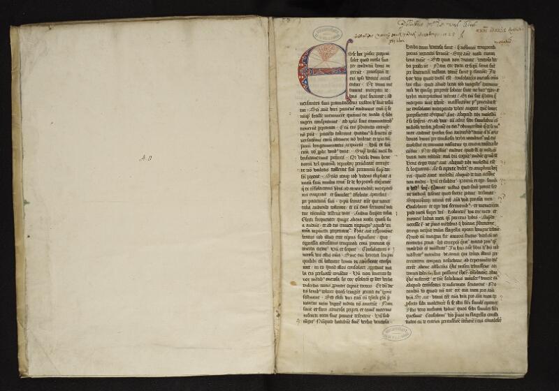 ARRAS, Bibliothèque municipale, 0047 (0010), vol. 2, garde - f. 001r