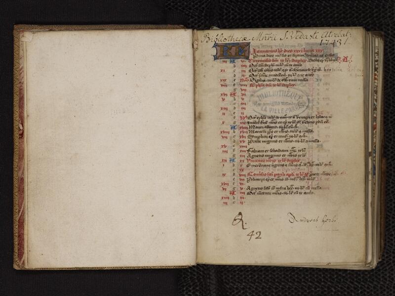 ARRAS, Bibliothèque municipale, 0393 (0550), gardeC v - 001 r