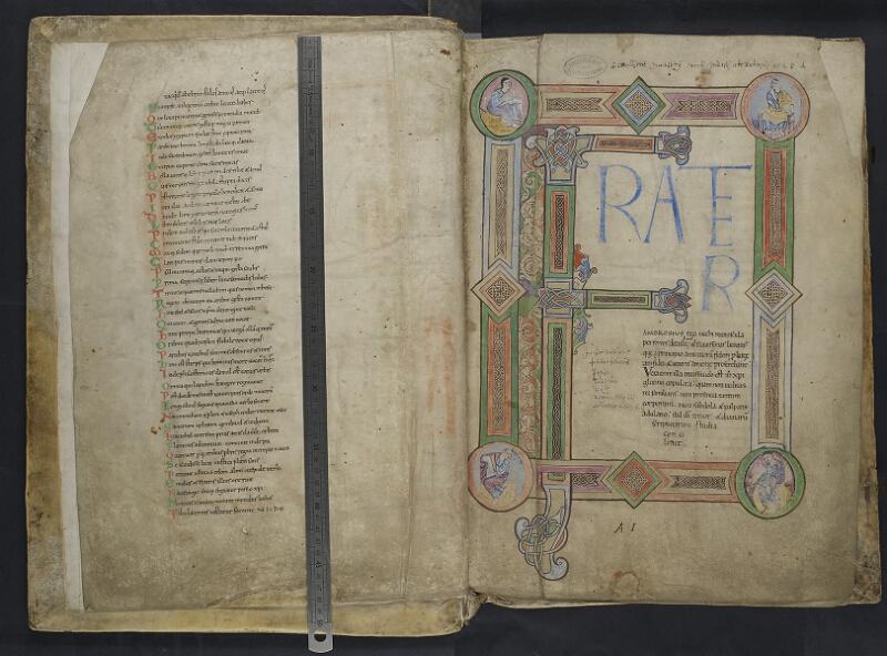 ARRAS, Bibliothèque municipale, 0435 (0559), vol. 1, f. 001v - 002r  avec réglet