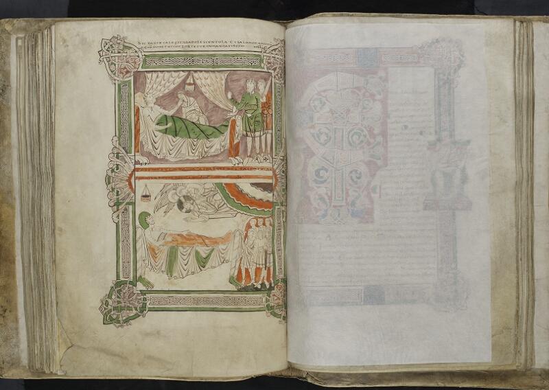 ARRAS, Bibliothèque municipale, 0435 (0559), vol. 1, f. 128v - feuille de soie