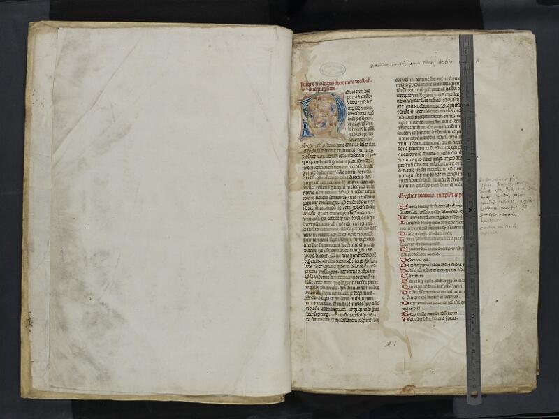 ARRAS, Bibliothèque municipale, 0435 (0559), vol. 2, garde verso - 001r avec réglet
