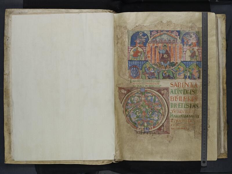 ARRAS, Bibliothèque municipale, 0435 (0559), vol. 3, garde verso - 001r   avec réglet