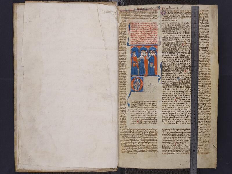 ARRAS, Bibliothèque municipale, 0442 (0565), garde verso - f. 001r  avec réglet