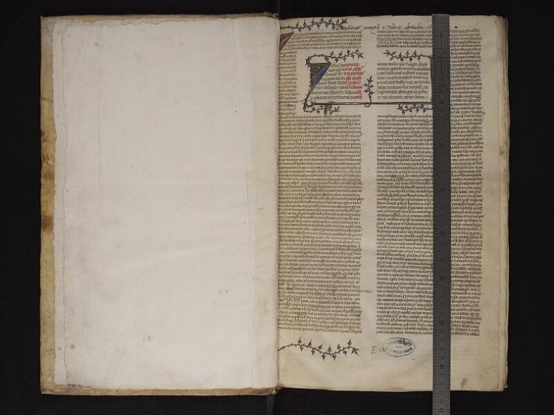 ARRAS, Bibliothèque municipale, 0457 (0570), garde v - f. 001r avec réglet