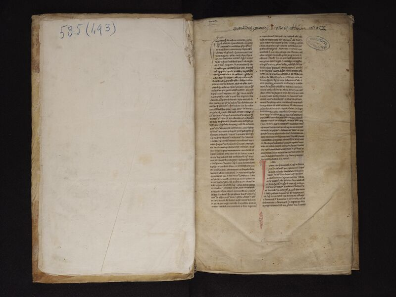 ARRAS, Bibliothèque municipale, 0493 (0585), garde - f. 001r