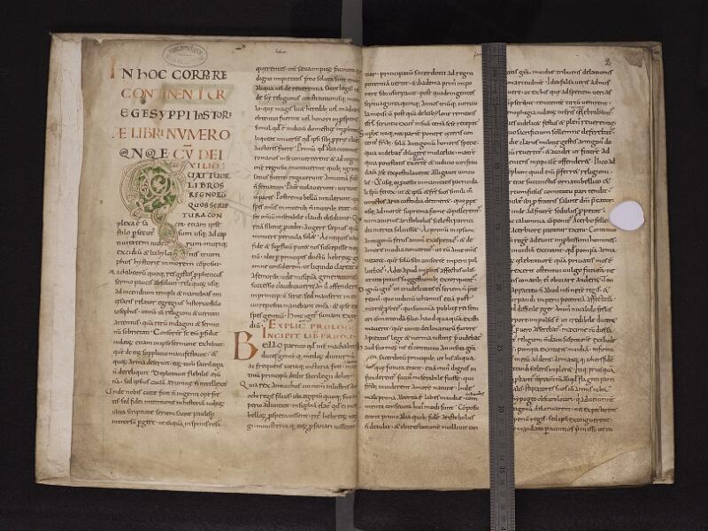 ARRAS, Bibliothèque municipale, 0519 (0826), f.  001v - 002r reglé
